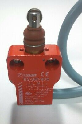 New Crouzet 83-881-906 Metal Roller Plunger Compact Limit Switch Raw 5 Wire