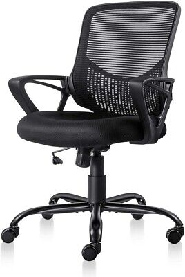 Ergonomic Double Mesh Office Chair With Armrest