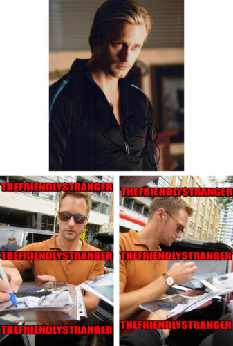 "ALEXANDER SKARSGARD signed Autographed ""TRUE BLOOD"" 8X10 PHOTO b PROOF Eric COA"