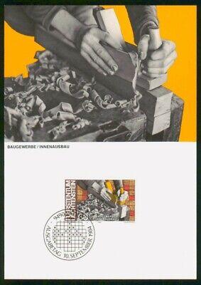 Mayfairstamps Liechtenstein FDC 1984 Carving Wood Maximum First Day Card wwo_530