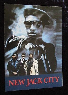 NEW JACK CITY promotional flyer ICE-T, CHRIS ROCK, JUDD NELSON