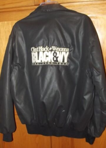 CLINT BLACK  &  WYNONNA JUDD ***BLACK AND WY***  CREW JACKET-1993---LARGE