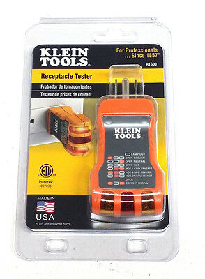 "Klein Tools Receptacle Tester RT500 ""MADE IN USA"""