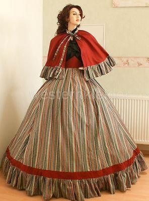 Westernkleid Biedermeierkleid Südstaatenkleider Krinolinenkleid KT254