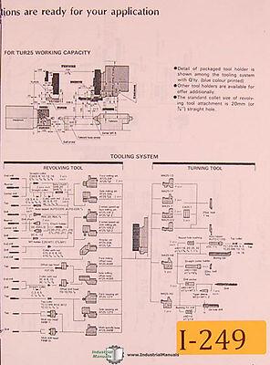 Ikegai Tur25 Nc Lathes Detailed Tooling Manual Year 1989