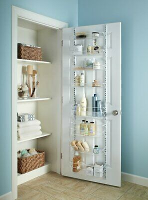 Adjustable Over the Door Storage Rack Organizer 8 Tier Shelf Kitchen Pantry Bath
