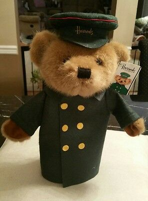 Vintage Harrods UK London Teddy bear man puppet item 77167 with tags 1980's Ret.