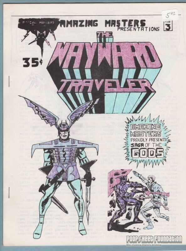 Amazing Masters Presents #3 comic fanzine STEVE FRITZ Alan Hutchinson 1966