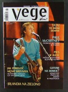 PAUL McCARTNEY mag.FRONT cover,Poland vegetarians magazine - europe, Polska - Zwroty są przyjmowane - europe, Polska