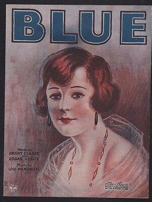 Blue 1922 Sheet Music