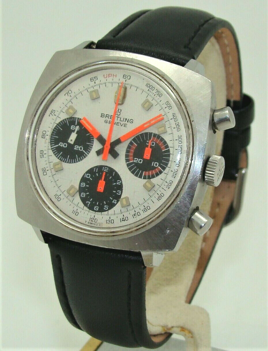 VINTAGE BREITLING TOP-TIME 814 CHRONOGRAPH 38mm MEN's VENUS MANUAL WIND WATCH - watch picture 1