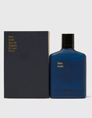 ZARA MAN GOLD EAU DE TOILETTE EDT 100ML Brand New Sealed Box