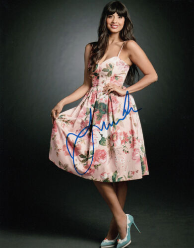 Jameela Jamil The Good Place signed 10x8 photo AFTAL & UACC Signing Info [16340]