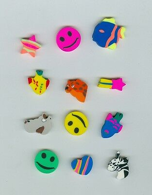 Twelve Mini FUN Shaped Erasers! Great party or prize idea!](Fun Party Ideas)