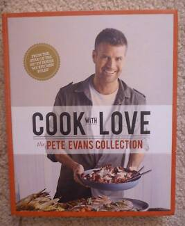 Cook With Love by PETE EVANS.  HARDCOVER COOKBOOK.  MINT.
