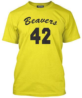 Beavers 42 Vest Basketball T-Shirt Yellow Top -  Howard Back Design 80s (80s Basketball Costume)