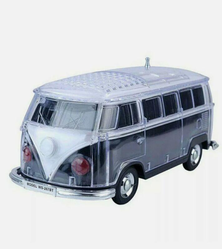 Volkswagen Bus Loud Black Speaker  BT Indoor/Outdoor Portable USB PORT/AUX INPUT