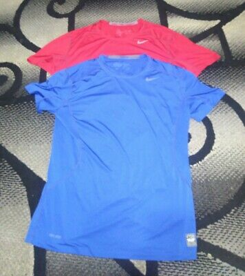 NIKE PRO COMBAT MENS LARGE FITTED WORKOUT SHIRTS Lot Of 2  Nike Workout Shirts