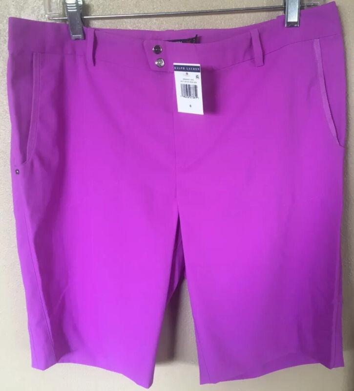 NWT Ralph Lauren RLX New Women's Golf Shorts Size 8 Purple MSRP $125