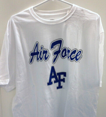 - UNITED STATES AIR FORCE ACADEMY USAF Falcons TShirt.  White.  New with tags!!!