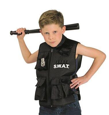 Weste SWAT 1tlg. Agent Polizei Kostüm Officer Police Gr. 116 128 (Swat Polizei Weste Kostüm)