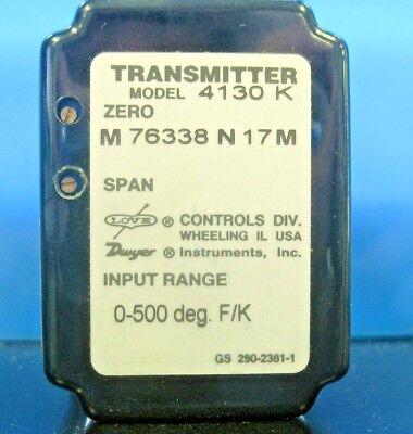 Dwyer Model 4130k Temperature Transmitter 0-500 Degree Type K Nos No Box