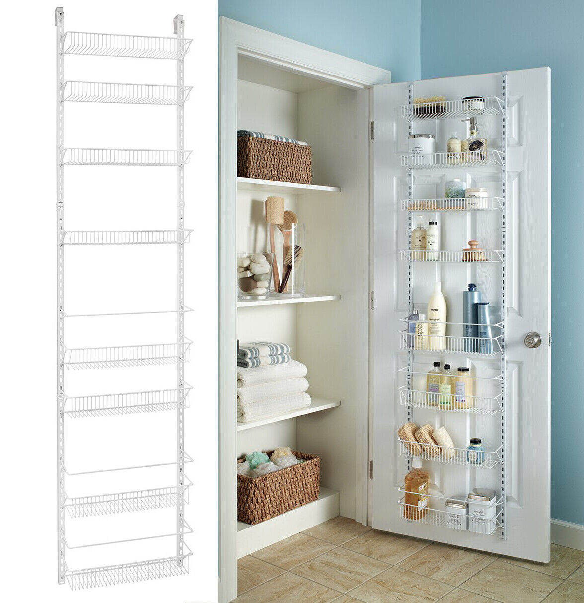 Over The Door Pantry Organizer Kitchen Storage Racks Wall Ho