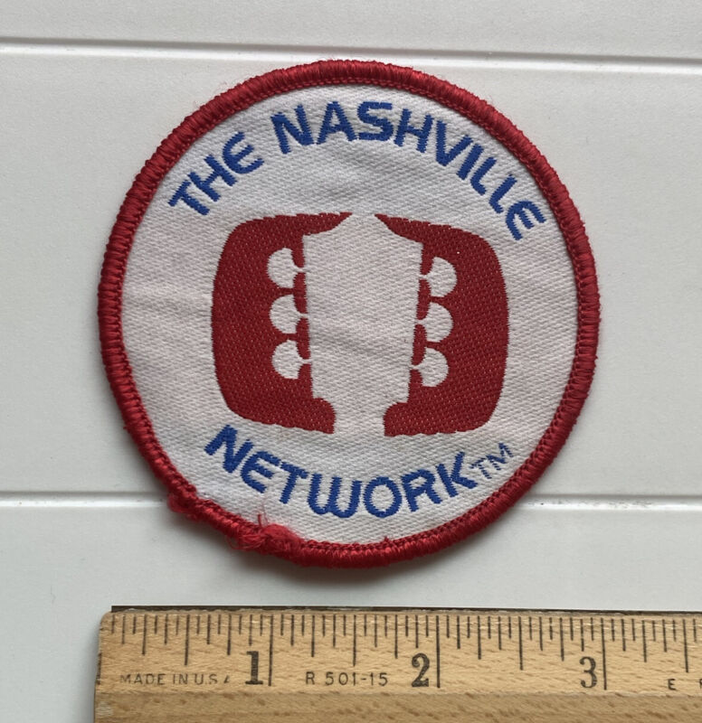 The Nashville Network TNN Country Music TV Station Tennessee Round Patch Badge