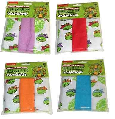 Teenage Mutant Ninja Turtles Clothing (Teenage Mutant Ninja Turtles Baby Wash Cloths - Set of Four - NEW -)