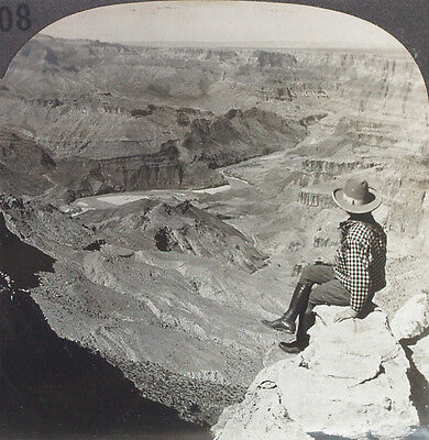 Keystone Stereoview Bright Angel Trail  Grand Canyon  Az 1910 S Education Set  B
