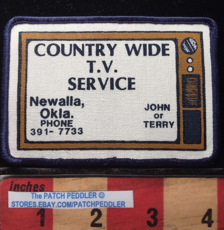 VTG TELEVISION NEWALLA OKLAHOMA PATCH ~  Country Wide TV Service John Terry 62K3