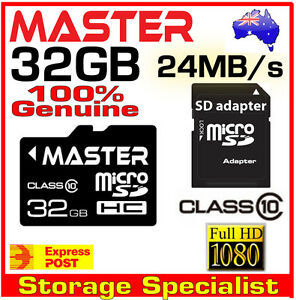 Master Genuine 32GB micro SD SDHC class 10 Full HD Video 32G memory card microSD