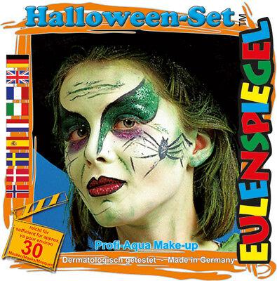 et Halloween-Set, Schmink-Set mit Schmink-Anleitung 1 Pinsel (Kinderschminken Anleitung Halloween)