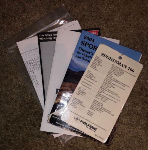 2004 Polaris Sportsman 700 ATV Owners Package Manuals Specs - OEM Bundle - WARN