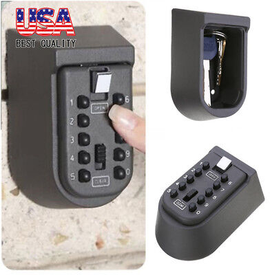 Us Digit Combination Hide Key Lock Box Storage Wall Mount Security Outdoor Case