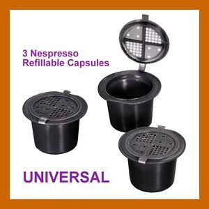 3 new refillable coffeeduck nespresso universal capsules pods uk ebay - Nespresso rangement capsules ...