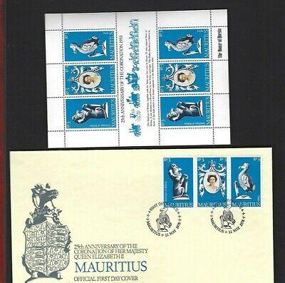 Mauritius sc#464 (1978) Souvenir Sheet MNH + FDC