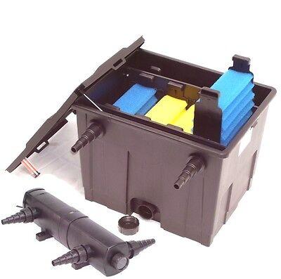 CBF 350 Teichfilter 12000 + UVC 24 Watt Lichtfilter Koiteich Algenstop Filter