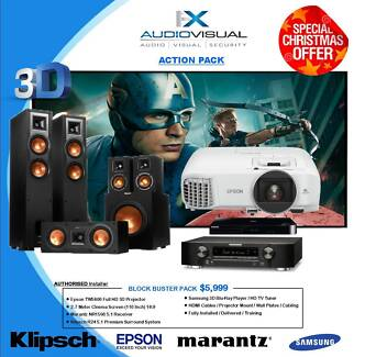 ACTION PACK HOME THEATRE SYSTEM - $5,999 INSTALLED - XMAS SPECIAL