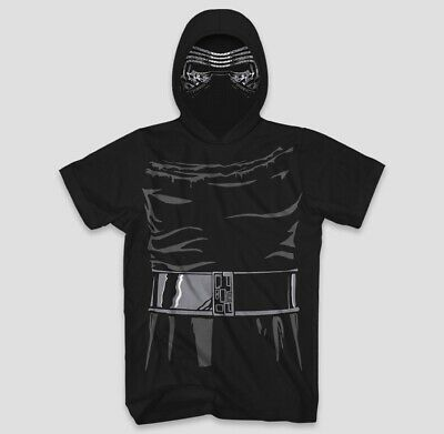 NEW Star Wars Kylo Ren Men's Short Sleeve Hooded Graphic T-Shirt Fun Costume