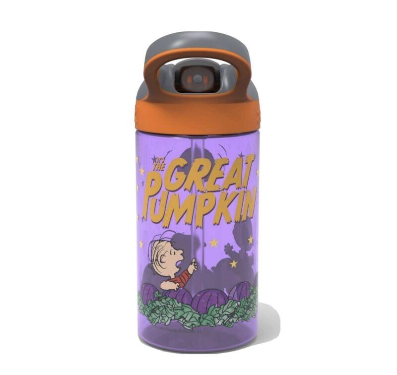 Peanuts Halloween Great Pumpkin Charlie Brown Snoopy Water Bottle Zak! 16 Oz