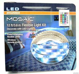 New Sylvania Mosaic Led 12 Ft Flexible Color Light Strip