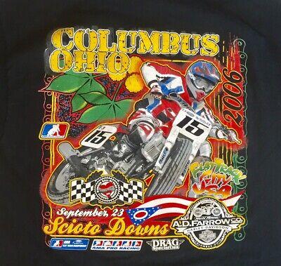 2006 Scioto Downs Columbus, Ohio AMA Flat Track Pro Racing Large T Shirt Black Track Down T-shirt