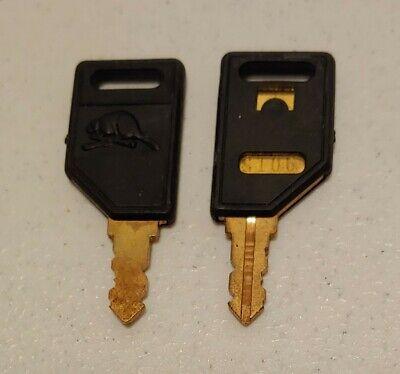 Set Of 2 - Beaver Key S106 For Candy Gumball Vending Machine Machines Oem Key