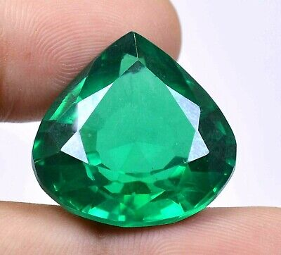 Colombian 55.95 Ct Natural Green Emerald Pear Cut Loose Gemstone Certified F1088