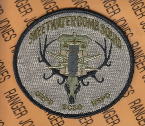 SWEETWATER BOMB SQUAD WYOMING GRPD SCSO RSPD POLICE PD LEO patch #2