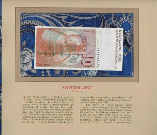 Most Treasured Banknotes Switzerland 10 Franken 1981 P-53c.1 UNC sign 53