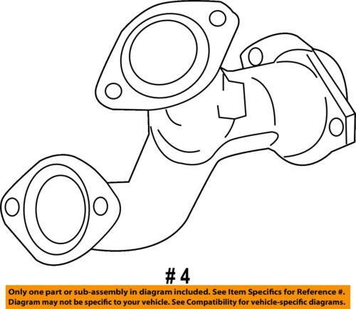 Toyota Oem 14 16 Highlander 3 5l V6 Exhaust Intermediate Pipe