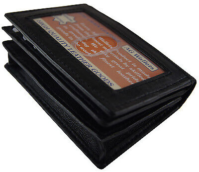 Mens Expandable Leather Credit or Business Card Holder outside ID Gusset (Mens Business Card)