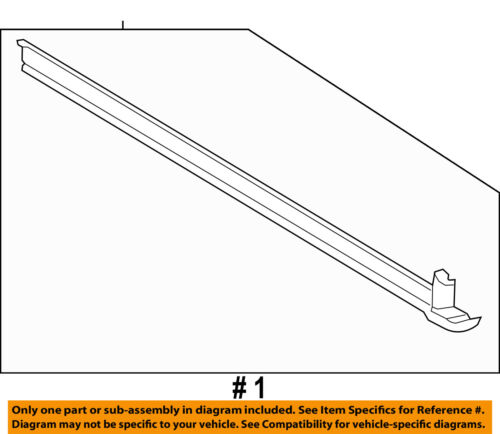 FORD OEM Exterior-Rocker Panel Molding Trim Left 1L2Z7810177AAA
